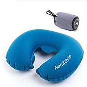 Almohada para el cuello Portátil Plegable Elástico Descanso en Viaje Inflado Presión de Aire Viaje Al Aire Libre Para la Oficina