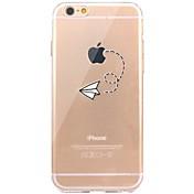 Para iPhone X iPhone 8 Carcasa Funda Transparente Diseños Cubierta Trasera Funda Logo Playing With Apple Suave TPU para Apple iPhone X