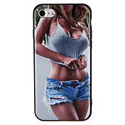 Etui Til iPhone 7 Plus iPhone 7 iPhone 6s Plus iPhone 6 Plus iPhone-6s iPhone 6 iPhone 5 Apple Mønster Inngravert Bakdeksel Sexy dame Myk