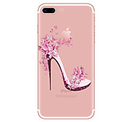 Etui Til Apple iPhone X iPhone 8 iPhone 8 Plus Gjennomsiktig Mønster Bakdeksel Sexy dame Myk TPU til iPhone X iPhone 8 Plus iPhone 8