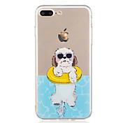 Etui Til Apple iPhone X iPhone 8 Mønster Bakdeksel Hund Myk TPU til iPhone X iPhone 8 Plus iPhone 8 iPhone 7 Plus iPhone 7 iPhone 6s Plus