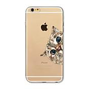 케이스 제품 Apple iPhone X iPhone 8 Plus 투명 패턴 뒷면 커버 고양이 소프트 TPU 용 iPhone X iPhone 8 Plus iPhone 8 아이폰 7 플러스 아이폰 (7) iPhone 6s Plus iPhone 6