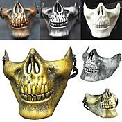 ¡caliente! Traje halloween cráneo del airsoft cráneo de la motocicleta medio cara cs guerrero esquelético militar 3 generaciones máscara