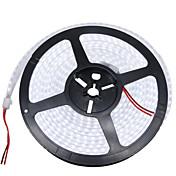 HKV Fleksible LED-lysstriper 1200 LED Varm hvit Hvit Vanntett DC 12V DC 12 V