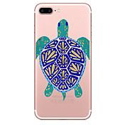 Caso para el iphone de la manzana 7 7 más el patrón de las tortugas de la cubierta del caso pintó la alta caja suave material del teléfono