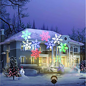 lámpara impermeable del proyector del copo de nieve de la decoración del día de fiesta del youglight 12w rgbw us / eu enchufe ac100-240v 1pcs