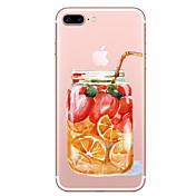 Para el iphone de la manzana 7 7 más la cubierta de la caja cubierta de la botella de fruta pintó la alta penetración caso suave material