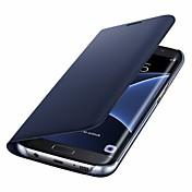 Funda Para Samsung Galaxy S8 Plus S8 Soporte de Coche Flip Cuerpo Entero Color sólido Dura Cuero Sintético para S8 S8 Plus S7 edge S7 S6