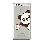 Etui Til Huawei P9 / Huawei P9 Lite / Huawei P8 Gjennomsiktig / Mønster Bakdeksel Ord / setning / Tegneserie Myk TPU til P10 Plus / P10 Lite / P10 / Huawei P9 Plus / Mate 9 Pro