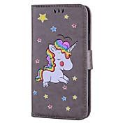 Funda Para Samsung Galaxy J7 (2017) J3 (2017) Soporte de Coche con Soporte Flip Diseños Funda de Cuerpo Entero Unicornio Brillante Dura