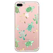 Para iPhone X iPhone 8 Carcasa Funda Transparente Diseños Cubierta Trasera Funda Animal Suave TPU para Apple iPhone X iPhone 8 Plus