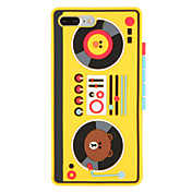 Funda Para Apple iPhone 7 Plus iPhone 7 Diseños Funda Trasera Caricatura Animal Suave Silicona para iPhone 7 Plus iPhone 7 iPhone 6s Plus