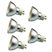 5pcs 3W 280lm GU10 LED-spotpærer 30 LED perler SMD 5050 Dekorativ Varm hvit Kjølig hvit 12V
