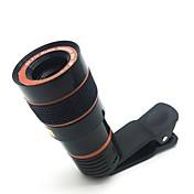 망원경 카메라 렌즈 hd 8 배 광학 줌 망원경 카메라 렌즈 범용 클립과 휴대 전화에 대 한 적합 한 아이폰 삼성 lg asus sony ipad