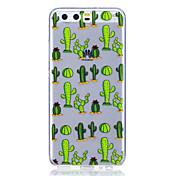 Caso para huawei p8 lite (2017) p10 caso cubierta cactus patrón alto transparente tpu material anti-scratch teléfono caso para huawei p10