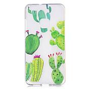 Caso para huawei p10 p10 lite caso cubierta cactus patrón pintado alta penetración tpu material imd proceso suave caso teléfono caso para