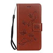 Caso para la cubierta material del caso del huawei p10 p10 lite el patrón del loto de la mariposa en relieve la caja material del teléfono