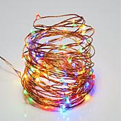 10m Cuerdas de Luces 100 LED SMD 0603 Blanco Cálido / RGB / Blanco Control remoto / Regulable / Impermeable <5 V / IP65