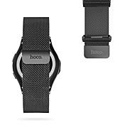 para hoco samsung gear s3 banda de reloj acero inoxidable milanese loop magnético reloj de reemplazo 22mm negro&plata