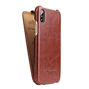 Etui Til Apple iPhone X iPhone X Flipp Heldekkende etui Helfarge Hard PU Leather til iPhone X