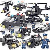 조립식 블럭 경찰차 헬리콥터 장난감 경찰 운송기기 단순한 DIY 클래식 뉴 디자인 어른' 남아 718 조각