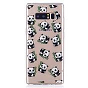 Etui Til Samsung Galaxy Ultratynn Gjennomsiktig Mønster Bakdeksel Panda Myk TPU til Note 8 Note 5 Edge Note 5 Note 4 Note 3 Lite Note 3