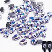 10 Glimmer Tilbehør Krystall Nail Smykker DIY Utstyr 3D Glitters Krystall Luksus Geometrisk Jeweled Tilbehør Glamour Glamorøs & Dramatisk