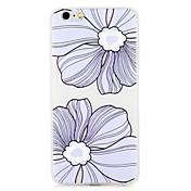 Funda Para Apple iPhone 7 Plus iPhone 7 Diseños En Relieve Funda Trasera Flor Suave TPU para iPhone 7 Plus iPhone 7 iPhone 6s Plus iPhone