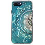 Etui Til Apple iPhone X / iPhone 8 Mønster Bakdeksel Mandala Myk TPU til iPhone X / iPhone 8 Plus / iPhone 8