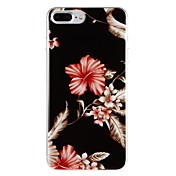 Funda Para Apple iPhone 7 Plus iPhone 7 IMD Diseños Funda Trasera Flor Dura ordenador personal para iPhone 7 Plus iPhone 7 iPhone 6s Plus