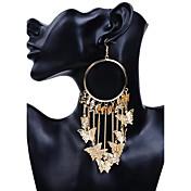 Dame Store Øreringer Oversized Legering Smykker Gull Avslappet Kostyme smykker