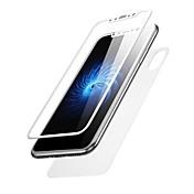 Protector de pantalla Apple para iPhone X Vidrio Templado 2 pcs Protector de Pantalla Posterior y Frontal Borde Curvado 3D Anti-Huellas