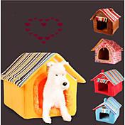 Gato Perro Camas Mascotas Colchonetas y Cojines Un Color Rayas Templado Portátil Plegable Suave Amarillo Café Para mascotas