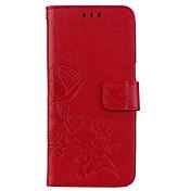 Funda Para Samsung Galaxy S8 Plus S8 Soporte de Coche Cartera con Soporte Flip Magnética Diseños En Relieve Funda de Cuerpo Entero Flor