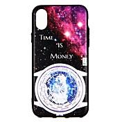 Funda Para Apple iPhone X iPhone 8 iPhone 8 Plus iPhone 6 iPhone 6 Plus iPhone 7 Plus iPhone 7 En Relieve Funda Trasera Cielo Dura