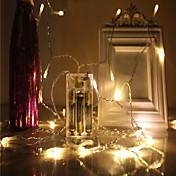 40 LED 4M String Light Varm hvit Kjølig hvit Multifarget Grønn Blå Rød Jul Bryllup Dekorasjon Dekorativ <5V