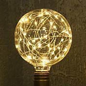 1 개 3W 300 lm E26/E27 LED필라멘트 전구 G95 33 LED가 통합 LED 장식 따뜻한 화이트 AC 85-265V