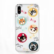 Funda Para Apple iPhone 7 iPhone 6 En Relieve Diseños Cubierta Trasera Gato Palabra / Frase Caricatura Suave TPU para iPhone X iPhone 8