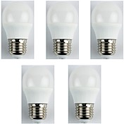 5pcs 4W 310 lm E27 Bombillas LED de Globo G45 6 leds SMD 3528 Blanco Cálido AC 180-240
