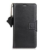 Etui Til OnePlus Kortholder Lommebok Flipp Heldekkende etui Helfarge Hard ekte lær til One Plus 5 OnePlus 5T