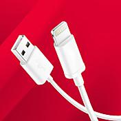 애플 아이폰을위한 USB 동기화 및 충전 USB 케이블 MFI 인증 번개 7 기가 플러스 자체 5S / 아이 패드 에어 / 아이 패드 미니 - 화이트