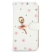 Etui Til Apple iPhone 6 iPhone 6 Plus iPhone 7 Plus iPhone 7 Kortholder Rhinstein Heldekkende etui Glimtende Glitter Hard PU Leather til