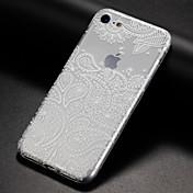 Etui Til Apple iPhone X / iPhone 8 / iPhone 8 Plus Ultratynn / Gjennomsiktig / Mønster Bakdeksel Spill med Apple-logo Myk TPU til iPhone X / iPhone 8 Plus / iPhone 8