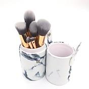 10pcs Cepillo para Base Cepillo para Polvos Pincel Delineador Pincel para Labios Pincel para Sombra de Ojos Cepillo para Colorete