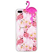 Funda Para Apple iPhone 6 iPhone 7 Diseños Manualidades Funda Trasera Flamenco Dibujo 3D Animal Suave TPU para iPhone X iPhone 8 Plus