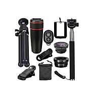 Mobiltelefon Lens Fisheyelinse / Objektiv med lang brennvidde / Vidvinkelobjektiv 12X makro 0.01m 30 Multi-resistent belegg