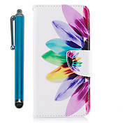 Etui Til Samsung Galaxy S9 S9 Plus Kortholder Lommebok med stativ Flipp Magnetisk Heldekkende etui Blomsternål i krystall Hard PU Leather