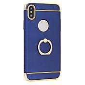 Etui Til Apple iPhone X iPhone 8 Belegg Ringholder Ultratynn Bakdeksel Helfarge Hard PC til iPhone X iPhone 8 Plus iPhone 8 iPhone 7 Plus