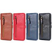 Etui Til Samsung Galaxy S7 edge S7 Kortholder Lommebok med stativ Flipp Heldekkende etui Helfarge Hard PU Leather til S7 edge S7