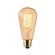 1pc 25W E26/E27 ST64 2300 K Bombilla incandescente Vintage Edison AC 220V AC 220-240V V